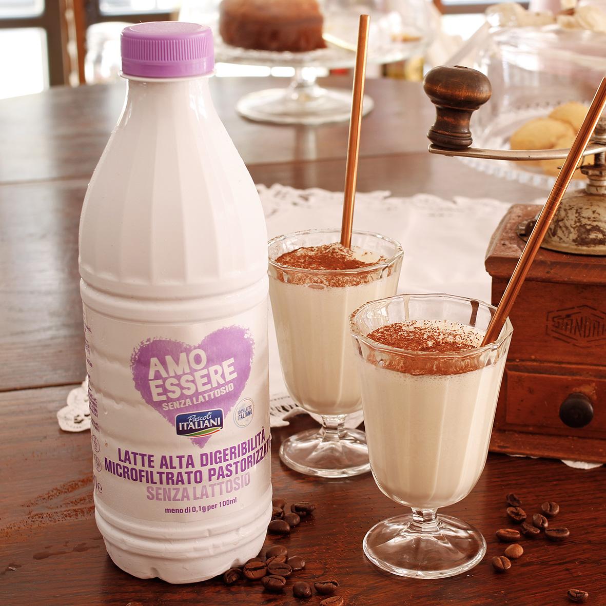 Frappè al cappuccino con latte Amo Essere Senza Lattosio