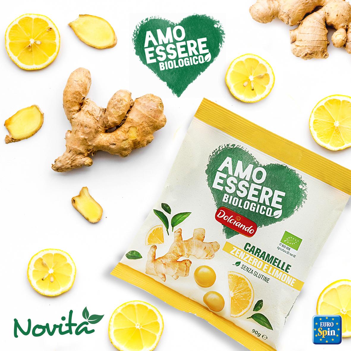 Caramelle zenzero e limone bio