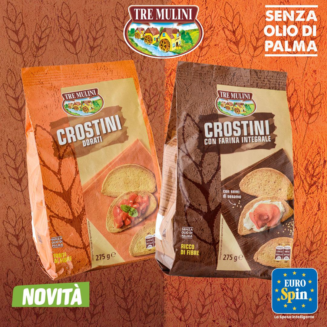 Crostini crostini dorati e i Crostini con farina integrale