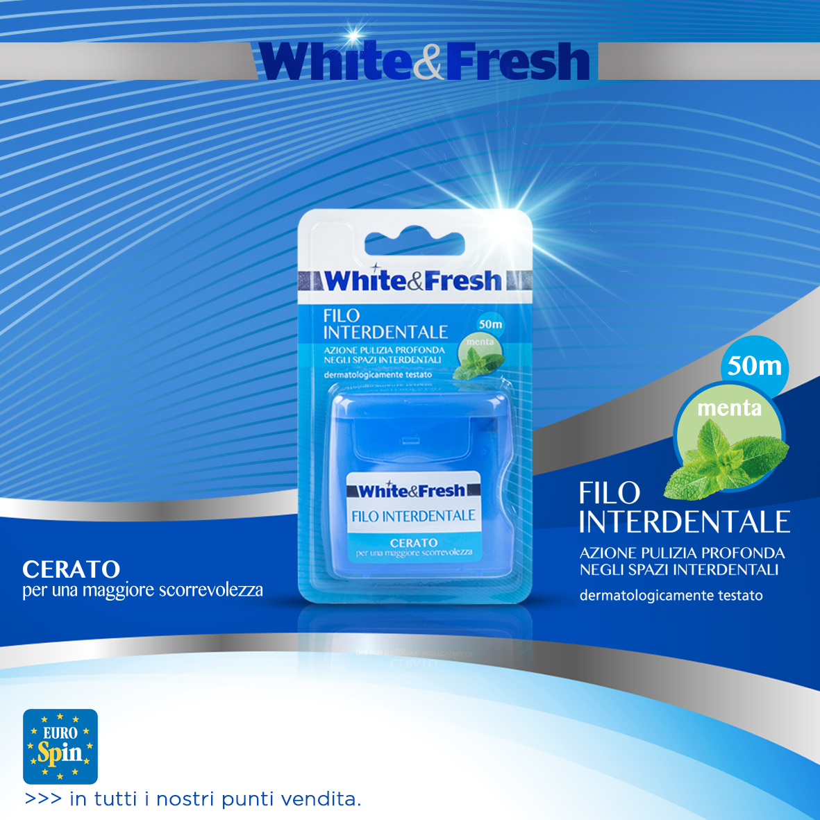 FILO INTERDENTALE WHITE & FRESH