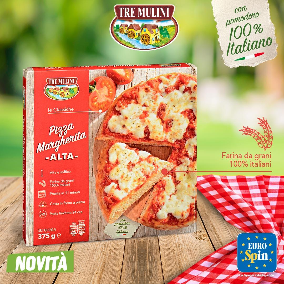 Pizza Margherita Alta Tre Mulini