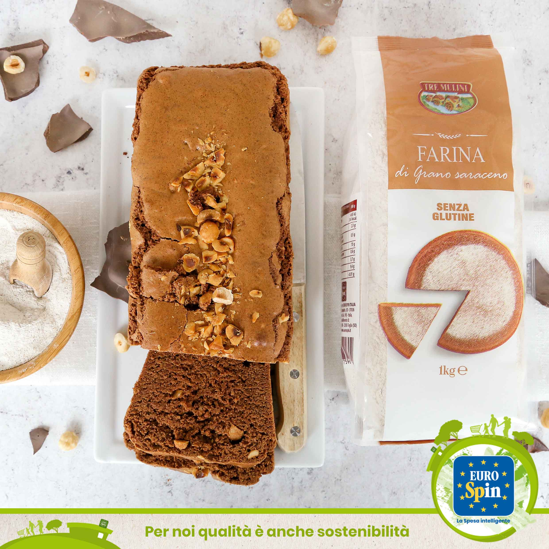 Plum cake senza glutine con grano saraceno e cioccolato