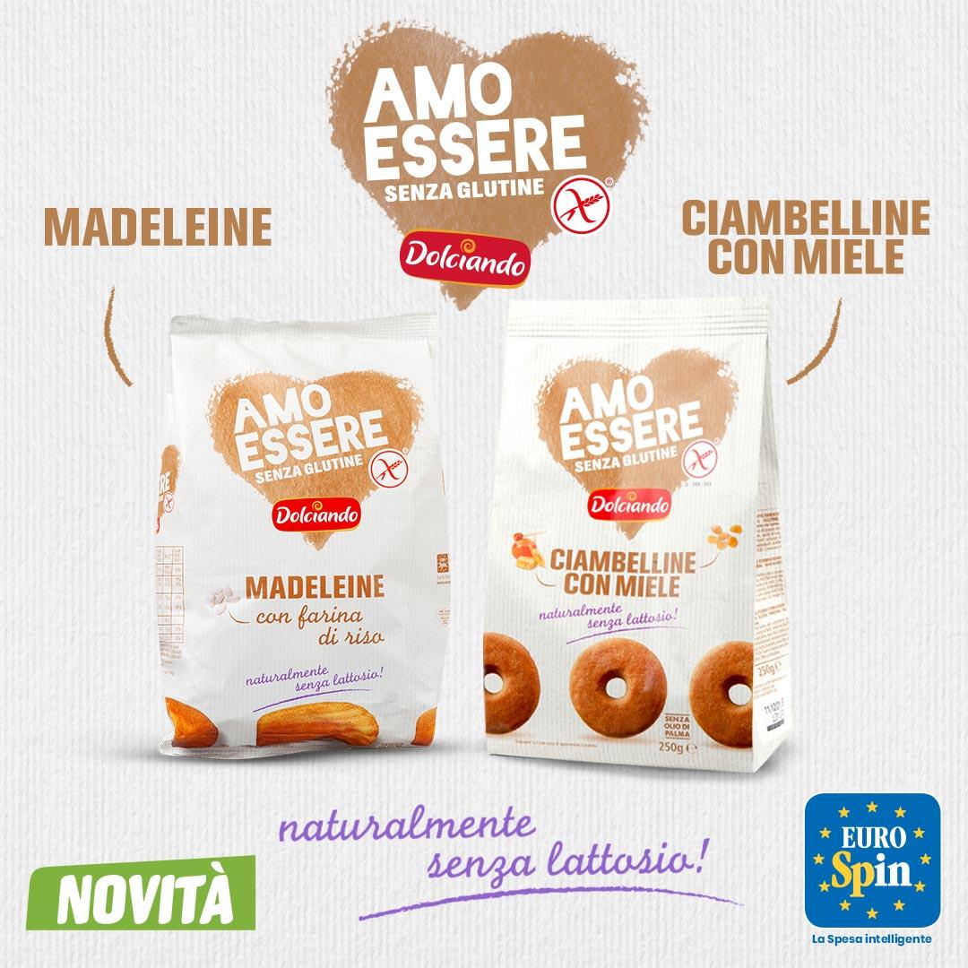 Madeleine e Ciambelline con Miele Amo Essere Senza Glutine