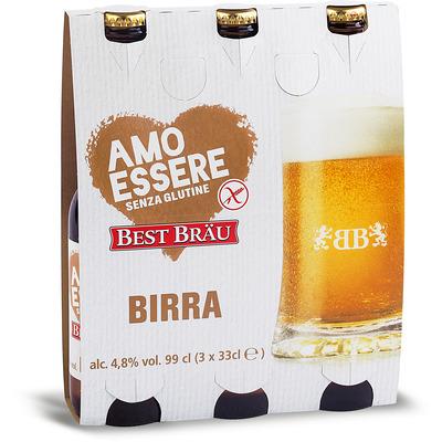BIRRA BEST BRAU S/GLUTINE 3X33CL - AMO ESSERE SENZA GLUTINE
